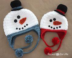 Crochet Snowman Hat by Sarah Zimmerman