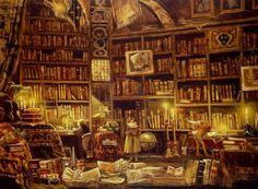 Nos bibliothèques recèlent tous les médicaments dont nous avons besoin pour nous rasséréner. (Hermann Hesse)    (Peinture d'Antonio Saliola)
