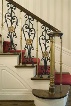 Brass And Iron Stair Balusters.