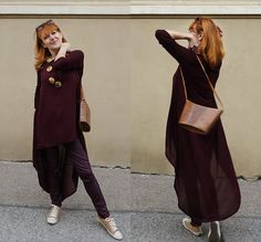 Get this look: http://lb.nu/look/8679531  More looks by Baba Slovakova: http://lb.nu/user/6155919-Baba-S  Items in this look:  H&M Jeans, Zara Shirt, Bama Shoes, Vintage Bag   #street #burgundyshirt #fashionoverfifty #redhair