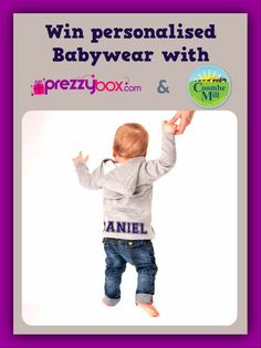 Enter and win some personalised babywear with Coombemill and Prezzybox Personalised Childrens Gifts, Personalized Baby, 1st Birthday Gifts, Cool Baby Clothes, Baby Wearing, Baby Names, Creative Business, Boy Outfits, New Baby Products