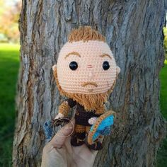Vikings Ragnar, Ragnar Lothbrok, Doll Toys, Dolls, Crochet Patterns, Crochet Ideas, Avengers, Knitting Projects, Scary