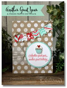 Stampin' Up! Another Great Year Card, Fresh Prints