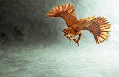 Bellos Origamis de animales que son transformados por las hábiles manos del músico Gonzalo Calvo que en sus horas libres es capaz de crearlos.