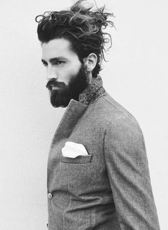 Messy Long Hairstyle Designs for Men- I'm a fan of eccentricity. This man looks that part but once again YOU have to be ABLE to pull it off.