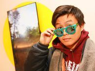 Snapchat Spectacles on sale in NYC A line formed outside Snapchat's 59th street Spectacles' store, where people were able to purchase their glasses one at a time through a large yellow vending machine.