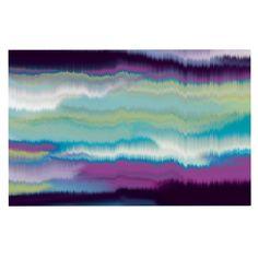 2 x 3 Floor Mat Kess InHouse Iris Lehnhardt Mandala II Blue Abstract Decorative Door