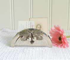 Napkin stand  vintage letter and card  by GrannyHannasCottage