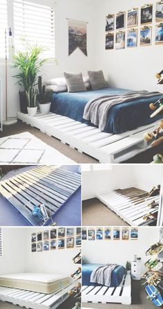 36 Easy DIY Bed Frame Projects to Upgrade Your Bedroom 15 DIY bed frames The post 36 Easy DIY Bed Frame Projects to Upgrade Your Bedroom appeared first on Wohnung ideen. bed frame 36 Easy DIY Bed Frame Projects to Upgrade Your Bedroom - Wohnung ideen Dream Rooms, Dream Bedroom, Bedroom Bed, Bedroom Furniture, A Frame Bedroom, Furniture Makeover, Diy Indoor Furniture, Pallet Furniture Bed, Raised Beds Bedroom