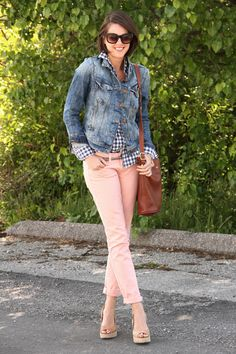 How to wear colored jeans, what to wear with colored jeans, best pink jeans, outfit blog, outfits blog, style blog, style blogs, What I Wore...