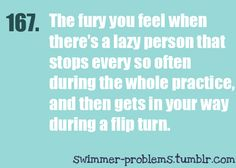 happens all the time.. the problem is my team thinks that's me cause i don't flip over the person infront of me and give them space to get ahead.