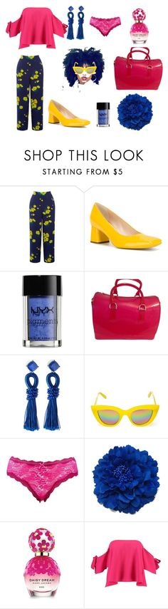 """Colores en Triada"" by cnamikawa on Polyvore featuring moda, Warehouse, Rayne, NYX, Furla, Lydell NYC, Quay, Charlotte Russe, Marc Jacobs y Boohoo"