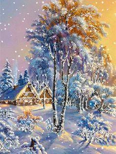 Сказочная зима - анимация на телефон №1276106