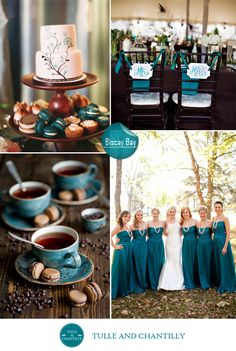 fall wedding color ideas 2014 - unique ocean blue wedding color scheme for beach and country weddings 2015