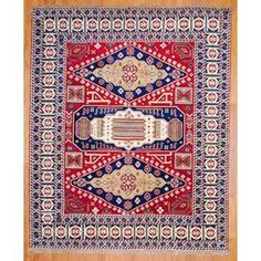 @Overstock.com - Indo Hand-knotted 8 x 10-foot Red/ Navy Kazak Wool Rug (India) - With a distinctive style, a gorgeous area rug from India will add some splendor to any decor. This Kazak area rug is hand-knotted with a floral pattern in shades of red, navy, ivory, gold and light blue.  http://www.overstock.com/Worldstock-Fair-Trade/Indo-Hand-knotted-8-x-10-foot-Red-Navy-Kazak-Wool-Rug-India/8025888/product.html?CID=214117 $486.19