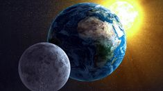 Why does the moon seem to change its shape every night?  Because it's a world in space with a day side and a night side.