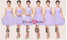 lavender Bridesmaid Dress Short Bridesmaid Dress / by DressHome, $99.99
