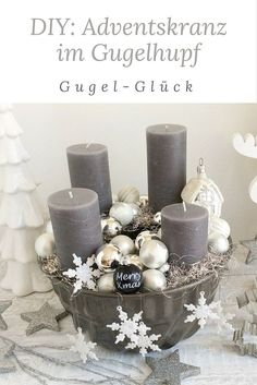 Modern Advent wreath in Gugelhupf! If you do not feel like a classic Advent wreath with the usual decoration, then you are exactly right. With this step-by-step guide, you can create your own personal, modern Advent wreath in the Gugelhupf form in no time Christmas Advent Wreath, Christmas Mood, Noel Christmas, Christmas Decorations, Decoration Table, Diy Wreath, Create Your Own, Diy And Crafts, Place Card Holders
