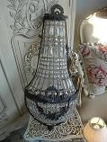 crush of the day: vintage glamour indeed! a little over the top for my south end redesigns but je t'aime this french empire wall sconce with it's beaded crystals.