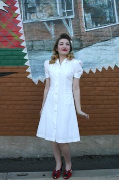 Vintage 1940s White & Mother of Pearl by MoonRiverMercantile, $95.00