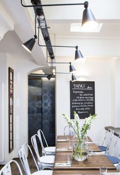 Industrial chairs and taylor made industrial tables.