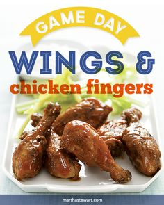 Game Day Wings & Chicken Fingers Superbowl Recipes