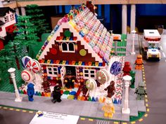 kiddo wants to make this Lego Gingerbread house