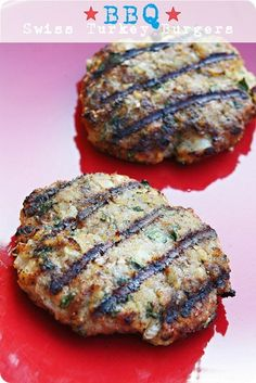 The Comfort of Cooking » BBQ Swiss Turkey Burgers