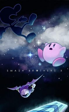 SSBB - Mr. Game&Watch, Kirby, and Meta Knight
