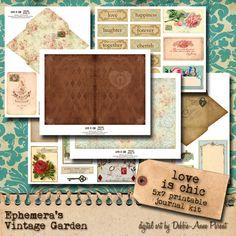 El amor es Chic revista imprimible Kit por EphemerasGarden en Etsy