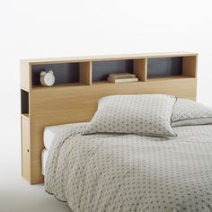 Biface storage headboard , light oak wood, La Redoute Interieurs | La Redoute
