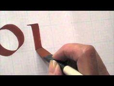 Brush Lettering Four - the Letterist - YouTube