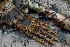 Jewelled skeletons. The hand of St Canditus, Irsee, Germany. Photo by Paul Koudounaris.