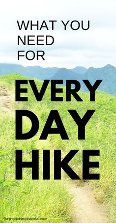 Hiking essentials for a day hike. Travel ideas for what to pack for a day hike packing list and what to wear hiking like for national parks vacation in US and around the world for bucket list best hiking trails in United States when backpacking or camping Backpacking Trails, Camping Packing, Packing List For Travel, Camping And Hiking, Camping Hacks, Budget Travel, Travel Ideas, Travel Tips, Travel Hacks