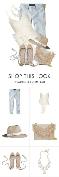 """Tank Top and Jeans for Summer (Outfit Only)"" by eula-eldridge-tolliver ❤ liked on Polyvore featuring Hollister Co., Sea, New York, The Season Hats, Cynthia Rowley and Kendra Scott"