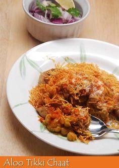 Bong Mom's CookBook: Aloo Tikki Chaat -- or Ragda Patties