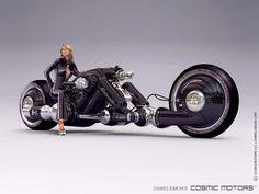 Automotive Concept Design: Cosmic Motors Detonator Futuristic Bike Concept