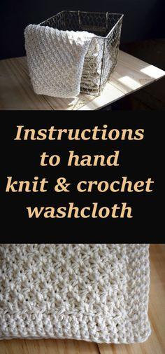 Hand Knit Daisy Stitch Washcloth