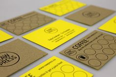 Raw Press, foil blocked and duplexed business cards