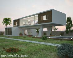 """2015_ PROGETTO """"Villa a ponte"""", M. Franca (TA); vista notturna giardino."""