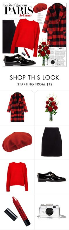 """""""Red in Paris"""" by beograd-love ❤ liked on Polyvore featuring Nearly Natural, kangol, Dolce&Gabbana, H&M, &Daughter, STELLA McCARTNEY, Barry M and Kate Spade"""