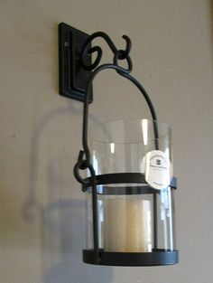 Home Interiors Wrought Iron Wall Sconce Candle Holder 12892 Rustic OOS Wrought Iron Candle Holders, Wall Candle Holders, Candle Wall Sconces, Wall Sconce Lighting, Metal Wall Panel, Vintage Wall Sconces, Iron Decor, Iron Wall, Interior Design