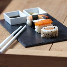 This gorgeous slate and ceramic sushi set from The Just Slate Company makes for stylish dining whatever the occasion