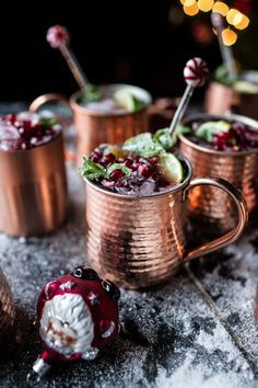Pomegranate and Peppermint Moscow Mules (VIDEO) | halfbakedharvest.com @Half Baked Harvest