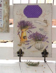 Купить Ключница панно Лавандовый Прованс - комбинированный, лавандовый, лаванда, лавандовый цвет, прованс