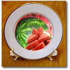 #SandyMertens #FoodDesigns #Watermelon #Plates #PorcelainPlate #decorativeplate #3drose
