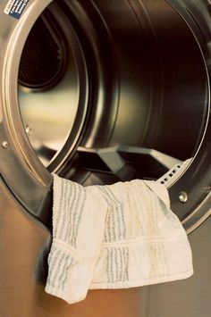 1. Soak a hand towel in fabric softener. Squeeze out any remaining drops from the towel.  2. Hang it over a chair (or outside on a clothes line) to dry. Your home will smell wonderful while it is drying. Make sure to let it dry completely which may take up to a few days.  3. After the towel dries just throw it in your dryer along with clothes and use it as a dryer sheet for 40-50 loads before soaking again. Your clothes will be softer then they have ever been!