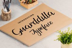 http://Guarddilla is a calligraphy-style font made by hand.This fun and playful font is PUA encoded and comes with bonus swashes and swooshes.