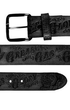 Lucky13 Belt The Grease Gas Glo Oldschool,Tattoo,Pin up,Rockabilly,Custom Styles