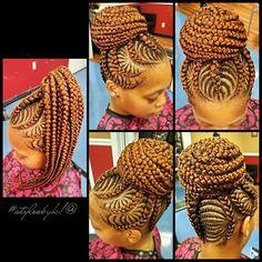 #stylesbyk!@ aaaand another ☝ #hinesvillebraider #braidupdo #braidattack…